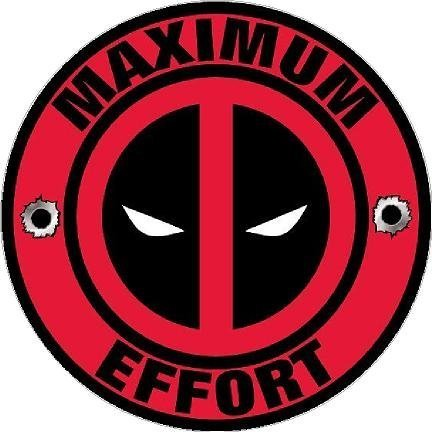 Deadpool Decal Maximum Effort Vinyl Sticker (Guitar Deadpool)