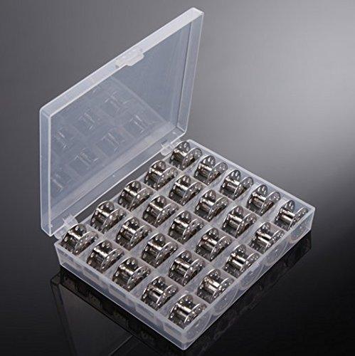 ReachTop caja con 25 canillas vacías para máquina de coser ...
