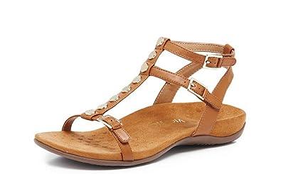 8785330e8cea Vionic Orthotic Rest Hailey Strappy Sandal - UK 7 - Caramel  Amazon ...