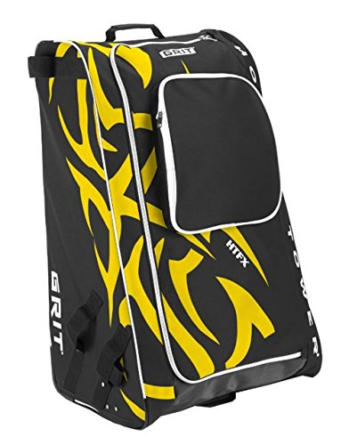 Grit Inc HTFX Hockey Tower 33'' Wheeled Equipment Bag Yellow HTFX033-BO (Boston) by Grit