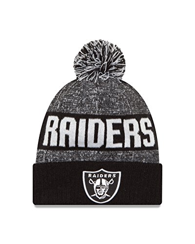 NFL Oakland Raiders 2016 Sport Knit Beanie, One Size, Black/White (Oakland Raiders Nfl Eye)
