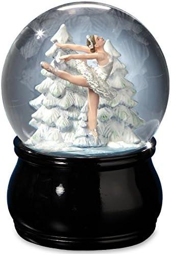 The San Francisco Music Box Company Elegant Swan Lake Ballet Water Globe