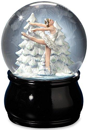 Elegant Swan Lake Ballet Water Globe by The San Francisco Music Box Company -