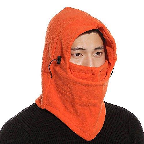 Ezyoutdoor Ezyoutdoor Winter Thermal FLEECE Swat Ski Neck Hoods Full Face Mask Cover Hat Cap for Riding Cycling Hunting Fishing Walking Outdoor Sports (Orange)