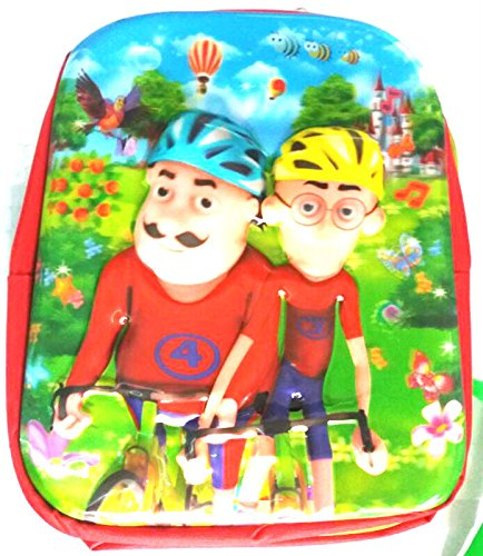 Coolgenx Motu Patlu School Bag With 3d Effect Suitable Upto 5 Years