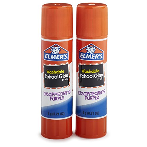 Stick School (Elmer's Disappearing Purple School Glue Sticks, 0.21 oz, Pack of 2 (E522))