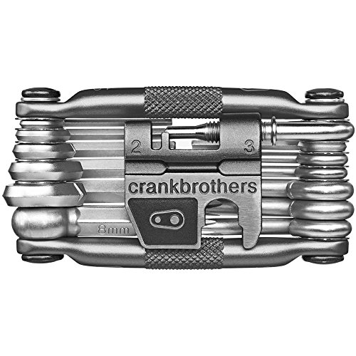 Crank Brothers Multi Bicycle Tool (19-Function, Silver) (Bike Crank Length)