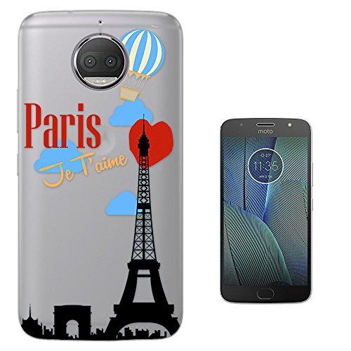 c00490 - Trendy Travel World Tourist Eiffel Tower Heart Valentines Day Paris Je T'Aime Motorola Moto G5S Plus 5.5