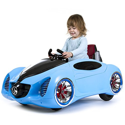 Remote Control Car, Ride on Toy for Kids by Rockin  Rollers   Battery Powered, Toys for Boys and Girls, 2- 5 Year Old - Blue