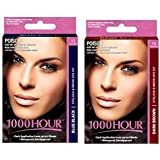 Combo Pack! 1000 Hour Eyelash & Brow Dye / Tint Kit Permanent Mascara (Blue Black & Dark Brown)