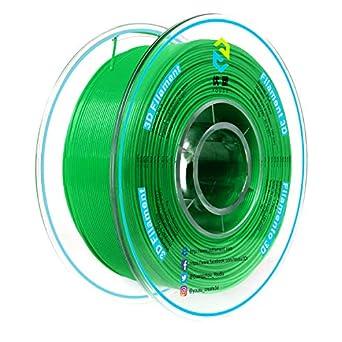 Yousu libre de enredos 1,75 mm PLA 3d impresora filamento verde ...