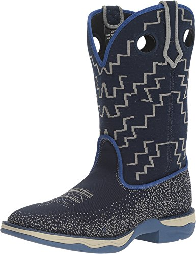 Laredo Women's Frolic Blue Woven Performair Stockman Boot Square Toe Blue 8.5 ()
