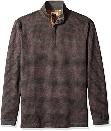 Haggar Mens Houndstooth Quarter Sweater