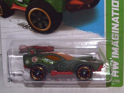 2013 HOT WHEELS 1:64 SCALE HW IMAGINATION STING ROD II TREASURE HUNT Hot Wheels Fire Rods