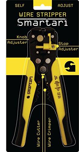 Self-Adjusting Wire Stripper Cutter & Crimper Tool by Smartari