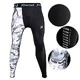 Xtextile Mens Sports Compression Pants, Cool Dry