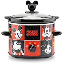 Disney DCM-200CN Mickey Mouse Slow Cooker, 2-Quart, Red/Black
