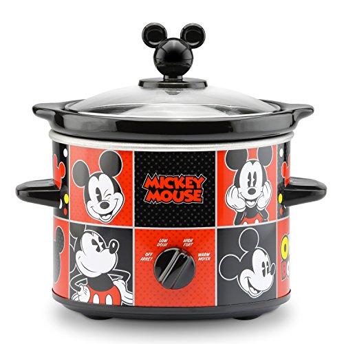 Ordinaire Disney Dcm 200CN Mickey Mouse Slow Cooker, 2 Quart, Red/Black