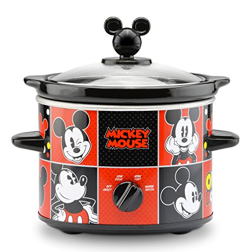 Disney DCM-200CN Mickey Mouse Slow Cooker, 2-Quart, Red/Black (Round Mickey Mouse)