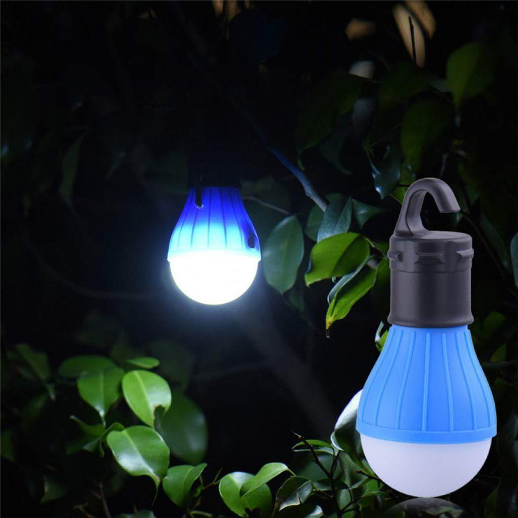 Angoo Beauty Multifunctional Outdoor Camping LED Tent Light Portable Emergency Lamp with Hook (Blue)