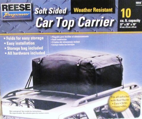 REESE TOWPOWER Soft Sided Car Top Carrier 10410 - Weather Resistant