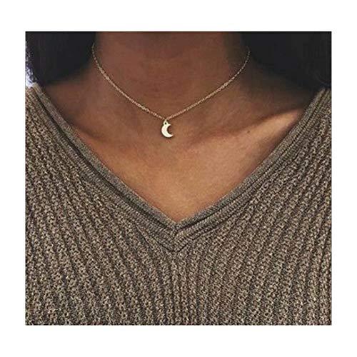 Fashion Necklace Crescent Pendant Clavicle product image