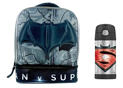DC Comics Batman v Superman Lunch Bag & Funtainer Thermos