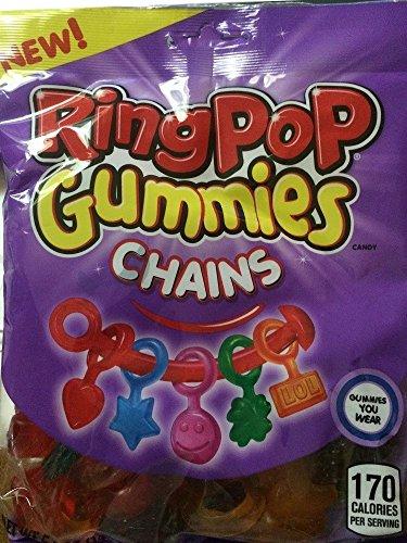 Ring Pop Gummies Chains Candy 6-Flavors, 5 oz
