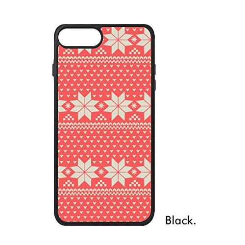 (Red Beige Snowflake Shape Octagonal Heart-Shaped Nordic Illustration Pattern /7 Plus Cases iPhonecase iPhone Cover Phone Case Gift)