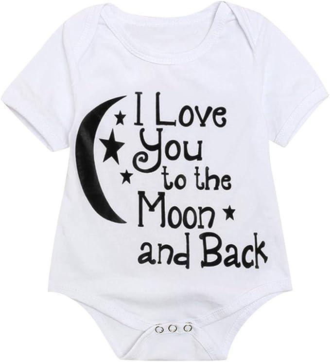 Body Estampado de Luna de bebé niño niña, Manga Corto Recien ninos ...