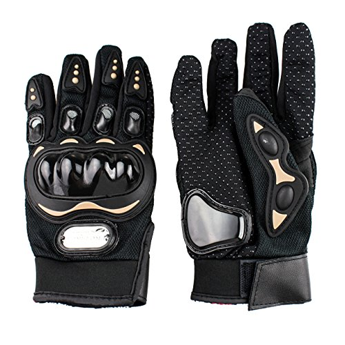 Tera 1 Pair of Full Finger Protective Gloves Breathable Anti-crash for Motorcycle Motocross Racing Size L