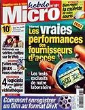 MICRO HEBDO [No 181] du 04/10/2001 - INTERNET - LES VRAIES PERFORMANCES DES FOURNISSEURS D'ACCES - RETROUVEZ VOS SERIES CULTES SUR LE WEB - FAITES VOS JEUX VOUS-MEME - 4 LOGICIELS POUR GERER SA VIDEOTHEQUE - COMMENT ENREGISTRER UN FILM AU FORMAT DIVX - BIEN REGLER LA MOLETTE DE VOTRE SOURIS
