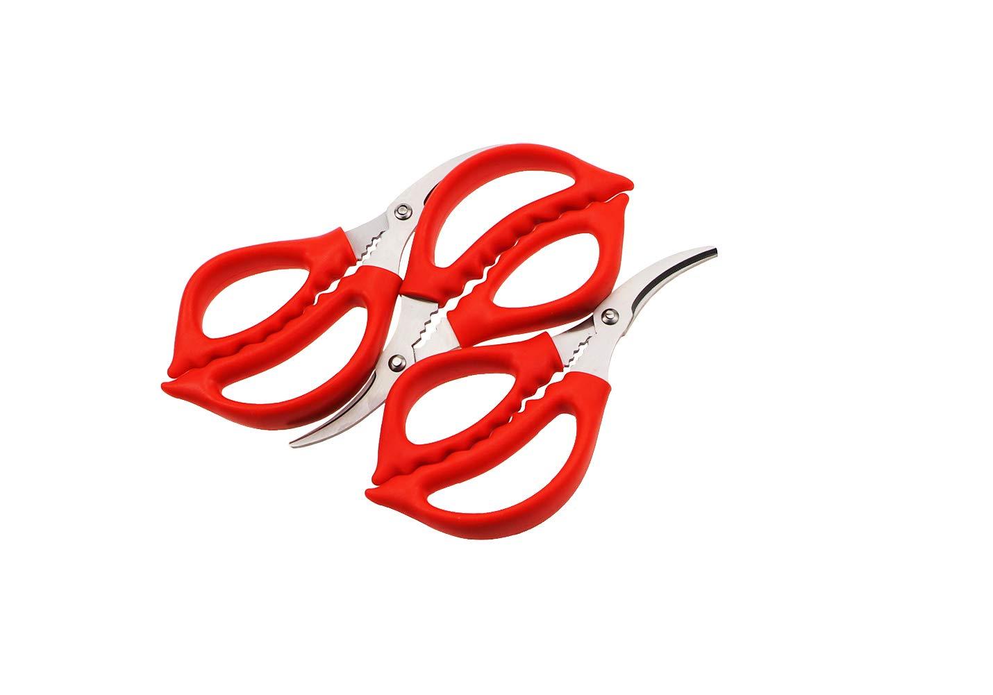 Joyce Lindberg Seafood Scissors for Kitchen Seafood Fish Crab Shrimp Lobster Scissors Set of 3 by Joyce Lindberg