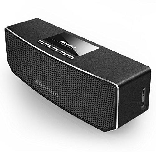 Bluedio CS-4 (Camel) Dual Drivers Portable Wireless Bluetooth Speakers Enhanced bass, Built-in Mic (Metal Black)