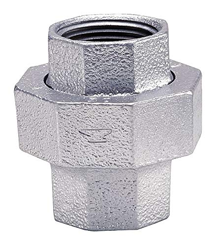 """Anvil Galvanized Malleable Iron Union, 1/4"""" Pipe Size, FNPT Connection Type - 0313822025, Pack of 2"""
