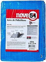 Lona De Polietileno Azul 3 M X 2 M Nove54 Nove 54