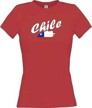 Shirtinstyle Camiseta de mujer WM Camiseta de país Chile muchos colores, Tamaños XS-XL
