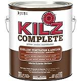 KILZ Complete High-Adhesion and Penetration Interior/Exterior Oil-Based Primer/Sealer, White, 1-gallon