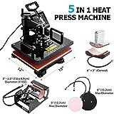 "5 in1 Heat Press Machine, 12X15""Combo Digital"