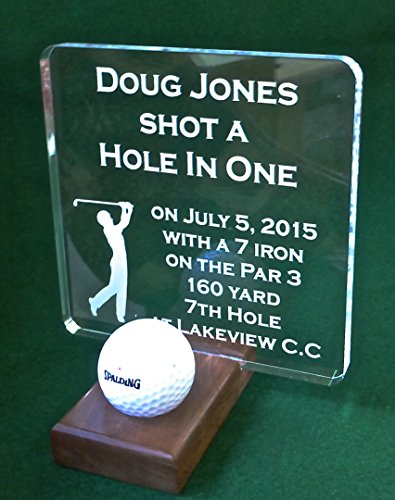 Hole In One Ball Display Golf Plaque (Ball Hole In One Plaque)