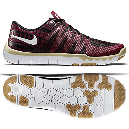 Nike Free Trainer 5.0 V6 AMP Florida State Seminoles 723939-706 Gold/Maroon Men's Shoes (9.5 M US)