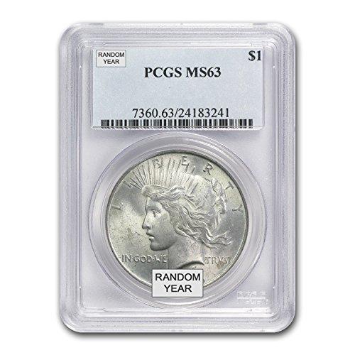1922-1925 Peace Dollars MS-63 PCGS $1 MS-63 PCGS