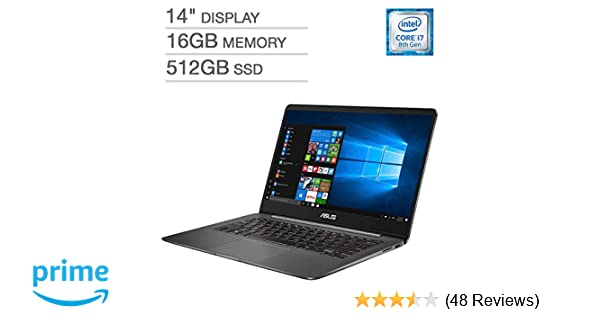 Amazon.com  ASUS ZenBook UX430UN UltraBook Laptop  14
