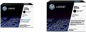 HP 37A | CF237A | Toner Cartridge | Black & 81A | CF281A | Toner Cartridge | Black