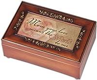 Mom Inspirational Decorative Woodgrain Rose Music Musical Jewelry Box Plays Amazing Grace