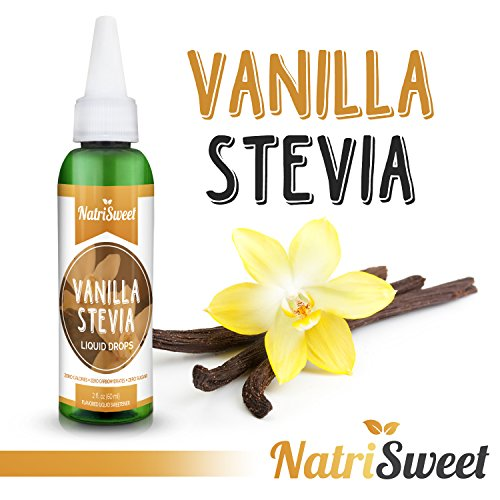 - NatriSweet Vanilla Stevia Liquid Drops (2 fl oz / 60 Milliliter) | Zero-Calorie Natural Sugar Substitute | Highly Concentrated Stevia Extract | Naturally Flavored