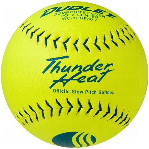 Dudley USSSA Thunder Heat Slow Pitch Classic M Stamp Softball - Composite Cover - 12 pack by Dudley