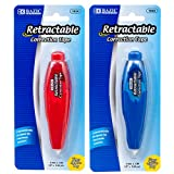 DOLLARITEM CORRECTION TAPE 1PC RETRACTALE PEN STYLE 4 ASST COLOR #BAZIC Pcs Per case : 48