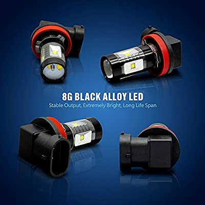 SIRIUSLED H8 H11 LED bulb for car truck Fog Light 30W 6000k Super Bright White Projection Pack of 2: Automotive