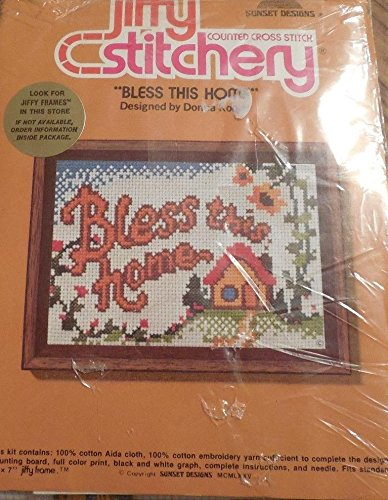 Bless This Home - Jiffy Stitchery Counted Cross Stitch Kit #920